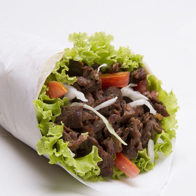 A steak wrap